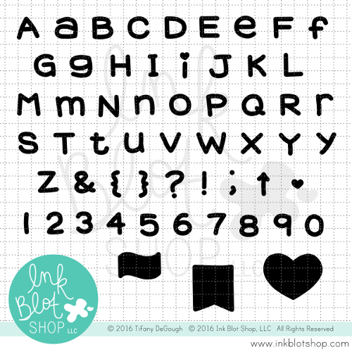 Chunky Alphabet (Solid) :: 4x8 Clear Stamp Set