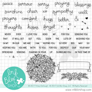 Comfort & Hugs (Mixed Greetings) :: 6x8 Clear Stamp Set
