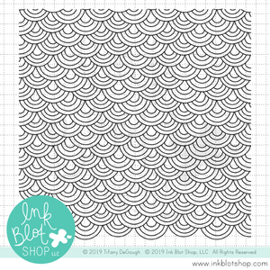 Doodled Rainbow Scoops Background :: 6x6 Clear Stamp Set