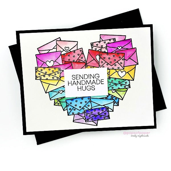 Happy Mail Heart :: 4x6 Clear Stamp Set