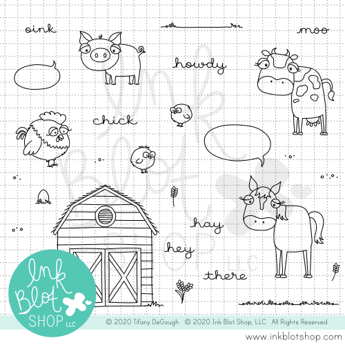 Farm Friends :: 4x8 Clear Stamp Set