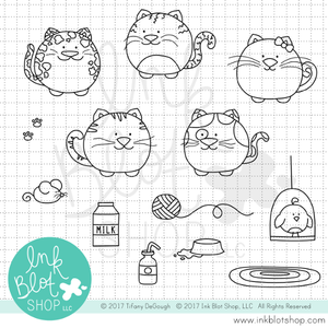 Fat Cats :: 4x6 Clear Stamp Set