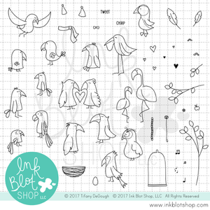 Flopsy Birds :: 6x8 Clear Stamp Set