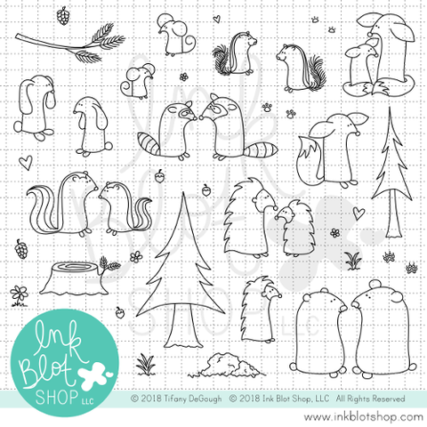 Flopsy Forest Friends :: 6x8 Clear Stamp Set