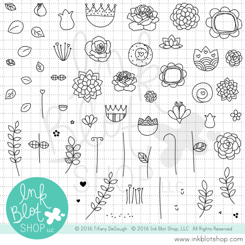 Floral Frenzy :: 6x8 Clear Stamp Set