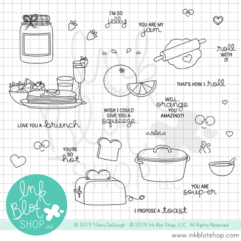 Food for Thought :: 6x8 Clear Stamp Set
