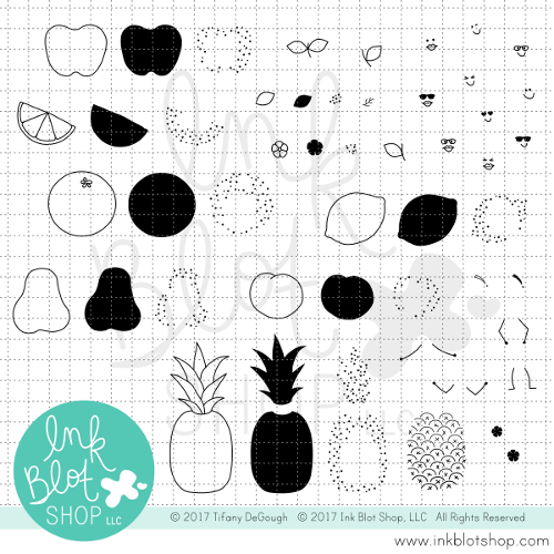 Fruit Salad :: 6x8 Clear Stamp Set