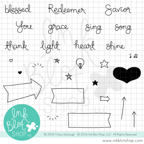 Grace Shines Words :: 4x6 Clear Stamp Set