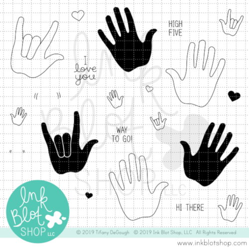 Hand It To You :: 4x8 Clear Stamp Set