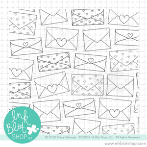 Happy Mail Background :: 6x6 Clear Stamp
