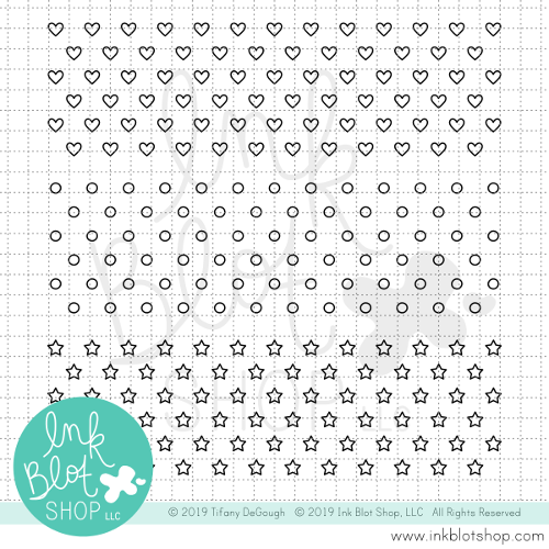 Heart Dot Star Backgrounds :: 6x6 Clear Stamp Set