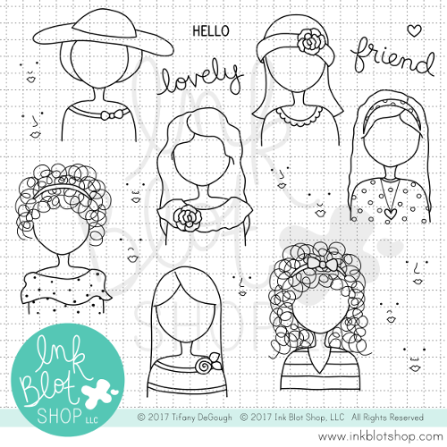 Hello Lovely :: 4x8 Clear Stamp Set