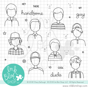 Hey Handsome :: 4x8 Clear Stamp Set