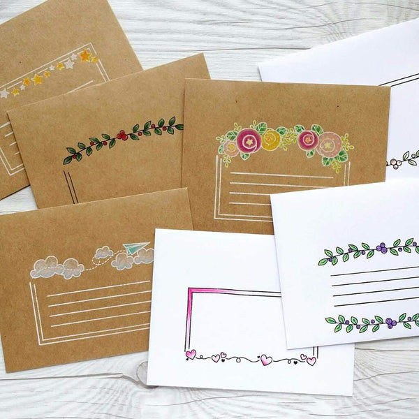 Envelope Mail Art :: 6x8 Clear Stamp Set