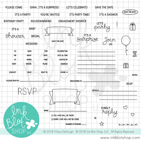 Invitation Builder :: 6x8 Clear Stamp Set