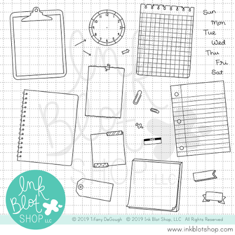 Journaling Spots :: 6x8 Clear Stamp Set