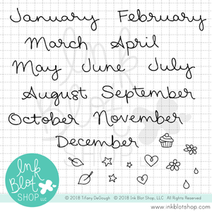 Just The Months (Calendar Builder) :: 4x6 Clear Stamp Set