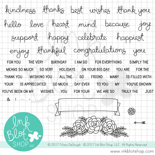 Kindness & Thanks (Mixed Greetings) :: 6x8 Clear Stamp Set