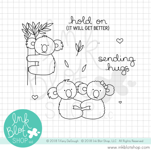 Koala Hugs :: 4x4 Clear Stamp Set