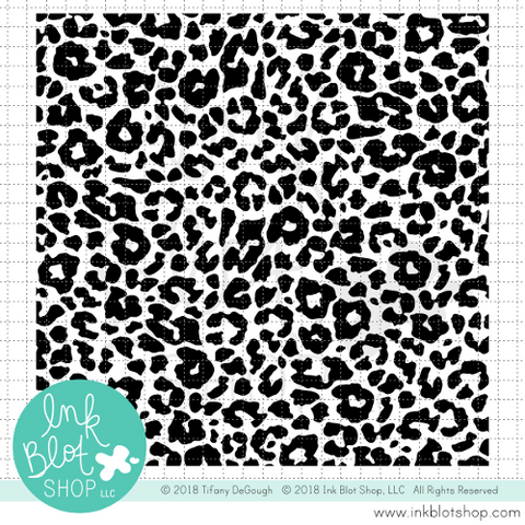 Leopard Print Background :: 6x6 Clear Stamp