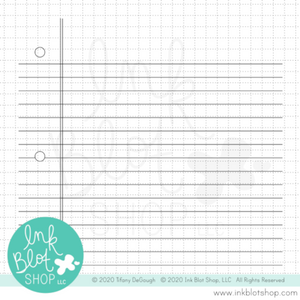 Lined Paper Background :: 6x6 Clear Stamp