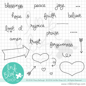 Love & Praise Words :: 4x6 Clear Stamp Set