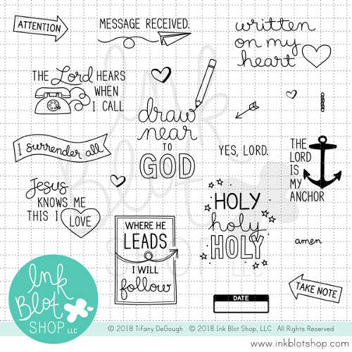 Margin Notes :: 4x8 Clear Stamp Set