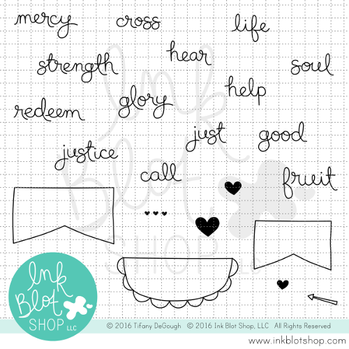 Mercy & Justice Words :: 4x6 Clear Stamp Set