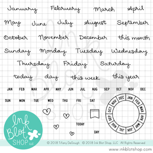 Months & Days (Calendar Builder) :: 4x6 Clear Stamp Set