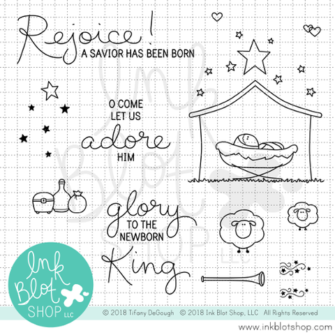 Newborn King :: 4x6 Clear Stamp Set
