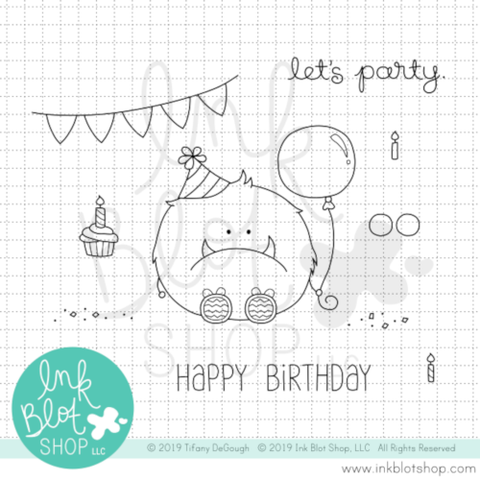 Party Monster :: 4x4 Clear Stamp Set