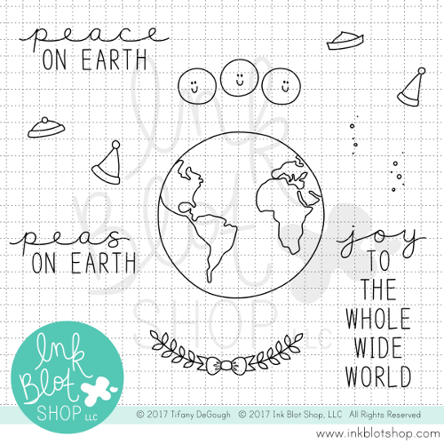 Peas on Earth :: 4x4 Clear Stamp Set