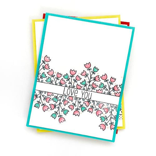 Botanical Borders :: 6x6 Clear Stamp Set