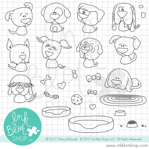 Playful Pups :: 6x8 Clear Stamp Set