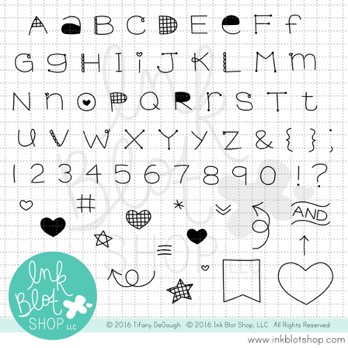 Quirky Alphabet :: 4x8 Clear Stamp Set
