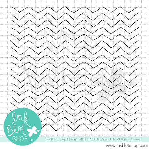 Quirky Chevron Background :: 6x6 Clear Stamp Set