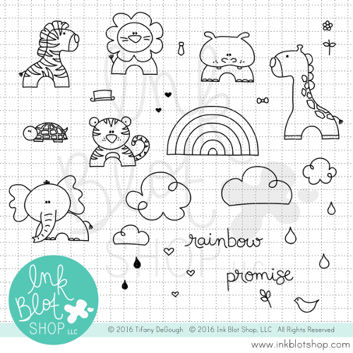 Rainbow Promise :: 4x6 Clear Stamp Set