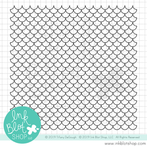 Scalloped Mermaid Scales Background :: 6x6 Clear Stamp Set