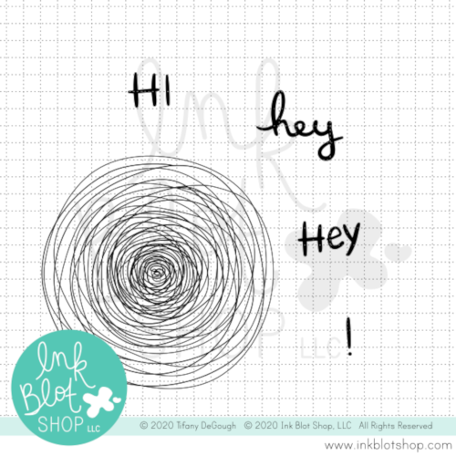 Scribble Circle :: 4x4 Clear Stamp Set