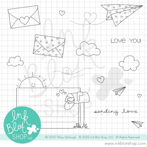 Sending Love :: 4x8 Clear Stamp Set