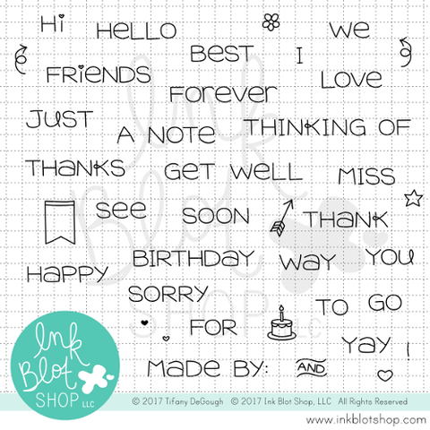 Simple Sentiments :: 4x6 Clear Stamp Set