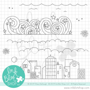 Skyline Borders :: 6x6 Clear Stamp Set