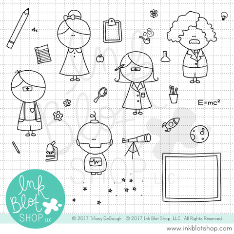 Smartie Pants :: 4x6 Clear Stamp Set