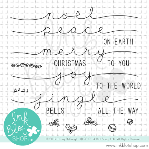Stretched Holiday Sentiments :: 4x6 Clear Stamp Set