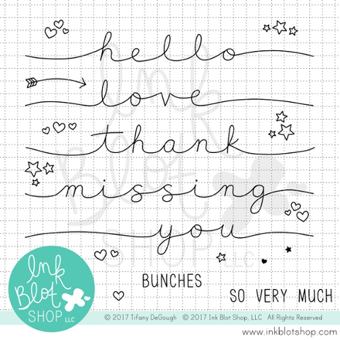 Stretched Sentiments :: 4x6 Clear Stamp Set