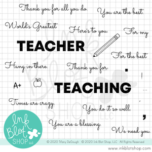 Teacher Greetings :: 4x8 Clear Stamp Set