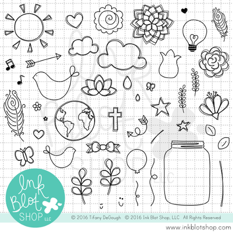 This & That :: 6x8 Clear Stamp Set