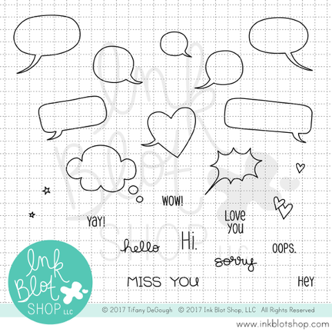 Tiny Bubbles :: 4x4 Clear Stamp Set