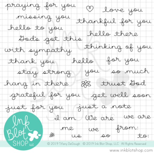 Tough Times Sentiments :: 4x8 Clear Stamp Set