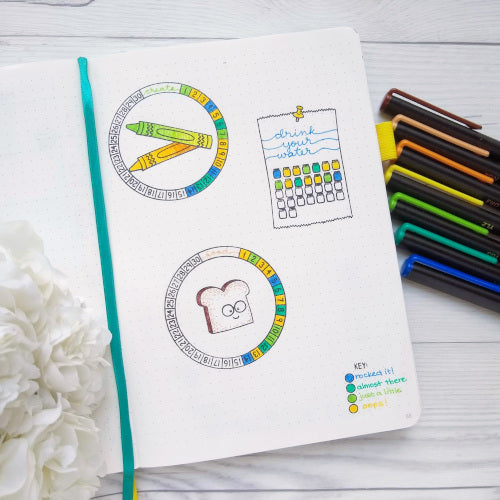 Track It (Calendar Builder) :: 4x6 Clear Stamp Set